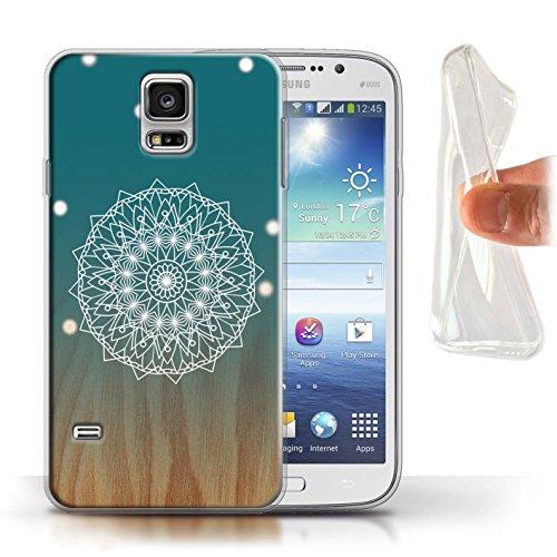Stuff4® Gel TPU Hülle/Case für Samsung Galaxy S5/SV/Mandala/Holz Muster/Ombre Muster Kollektion (Galaxy S5 Holz Case Mandala)