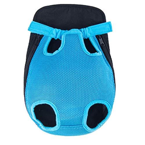 Bag-Haigeen Pet Dog Carrier Dog Front Brust Rucksack Mesh Five Outdoor Travel atmungsaktive Schulter Griff Taschen QL M -