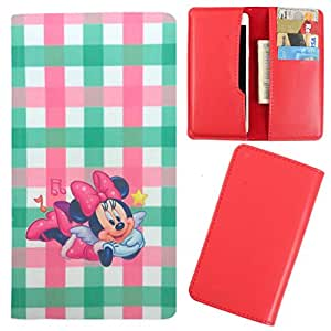 DooDa - For iBall Andi HD6 PU Leather Designer Fashionable Fancy Case Cover Pouch With Card & Cash Slots & Smooth Inner Velvet