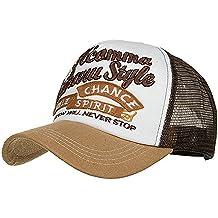 L_Stars Gorra de Beisbol Bordada de Letras Coloridas Ajustable para Hombre y Mujer Sombrero de Carta