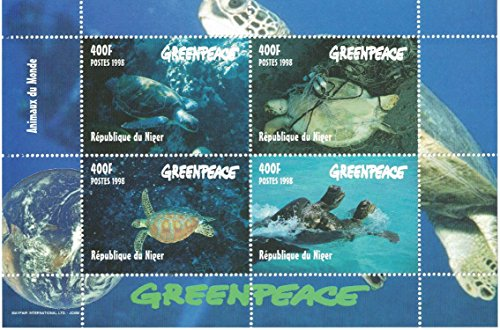 stamps-for-collectors-perforfated-stamp-sheet-featuring-greenpeace-sea-turtles-niger