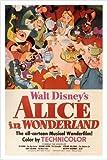Disney Alice au pays des merveilles Poster 24x 36Plus Chat du Cheshire et lapin Rare