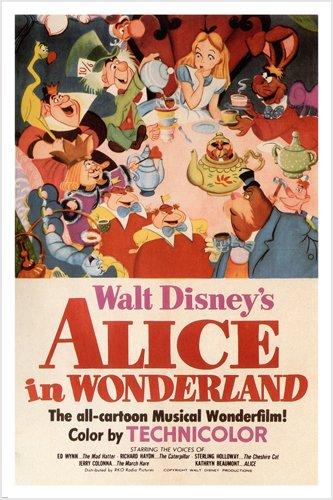 ce Im Wunderland Poster 24x 36-Plus Cheshire Cat & Kaninchen Rare ()