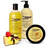 BRUBAKER Happiness 'My Mango Moments' Body Lotion, Duschgel, Körperbutter Mango und Magic Towel