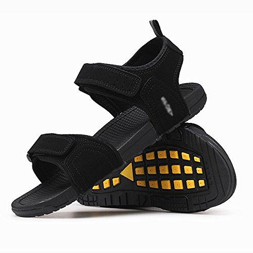 ellbare Männer Sandalen Casual Atmungsaktive Weiche Männer Outdoor Bewegung Rutschfeste Strand Schuhe Schwarz Weiß Bequem absorbieren Schweiß ()