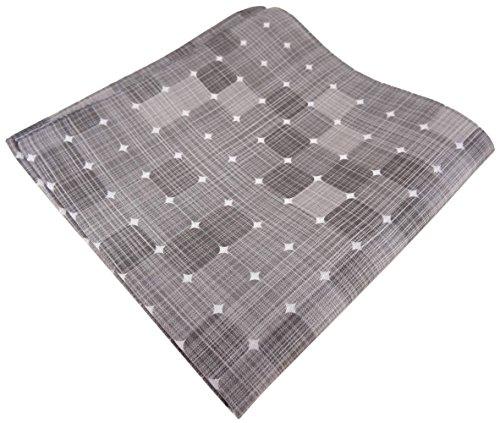 feines TigerTie pochette en soie en à dessins - pochette 100% soie gris argenté