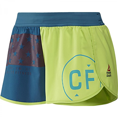 Reebok RCF KNW Short Pantaloni corti, donna, Donna, Rcf Knw Short, verde (kiwgrn), XXS