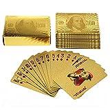 Tinksky Blattgold-Dollar Stil Poker Spielkarten