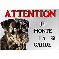 plaque attention chien cane corso en métal 29 x 20 cm env réf 39