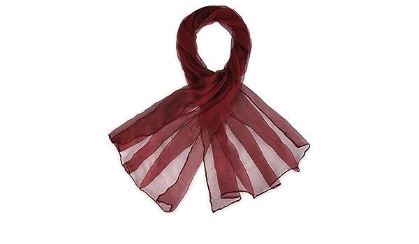 c9bd537c94b Foulard mousseline soie Bordeaux uni  Amazon.fr  Vêtements et accessoires