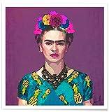 """JUNIQE® Poster 70x70cm Frida Kahlo - Design """"Trendy Frida Kahlo"""" (Format: Quadrat) - Bilder, Kunstdrucke & Prints von unabhängigen Künstlern entworfen von Xchange Art Studio"""
