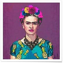 """JUNIQE® Poster 50x50cm Frida Kahlo - Diseño """"Trendy Frida Kahlo"""" (Formato: Square) - Láminas, Impresiones en papel & Imagenes por artistas independientes diseñado por Xchange Art Studio"""