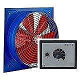 Uzman-Versand KSA-300MM Industrieventilator mit DREHZAHLREGLER, Axial Wand Fenster Ventilator Gebläse Einbauventilator Wandventilator Dach Tür Mauer Gebläse Ventilatoren Abluftventilator