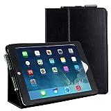Adento iPad Air Hülle Classic in Schwarz - Smart Cover mit verstellbarem Aufsteller, Handschlaufe & Stylus-Halterung
