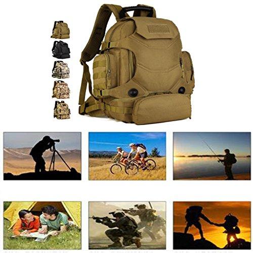 Generic 40L Taktischer Rucksack, Trekkingrucksack, Robust und Stark - Outdoor Sport Rucksack Wüste-Tarnung