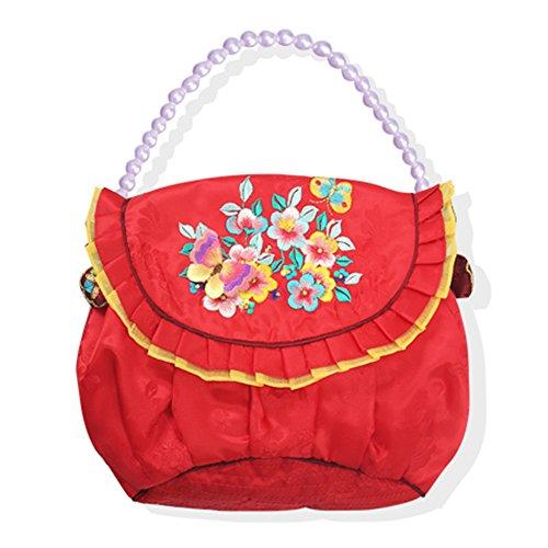 Hanbok Rote Tasche der koreanischen Tasche taditional Kreuzkleid für Frau Bitte siehe Details Seite rot