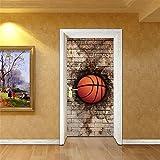 LCYCN PVC 3D Vinyl Tapete Tür Cover Graffiti Wandaufkleber Küche Wandtattoos Dekor Graffiti Wandbilder Abstrakt,B,38.5Cm*200Cm*2