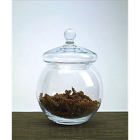 Vetro soffiato a mano Bonbon Candy Dish Biscuit Cookie Jar 22cm Muscat