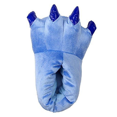 Kostüm Flanell - LATH.PIN Unisex Puschen Plüsch Hausschuhe Pantoffeln Kostüme Tierhausschuhe Geschenkidee, Blau, L