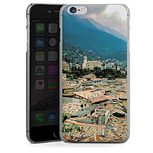 Apple iPhone X Silikon Hülle Case Schutzhülle Dächer Stadtpanorama Häuser Hard Case anthrazit-klar