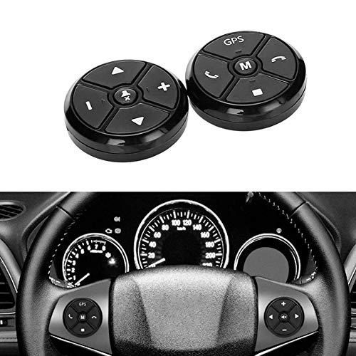 2X Control Volante Coche 2 DIN Botón inalámbrico