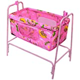 FUNBABY - Baby Cradle And Swing Cum Mobile Crib With Mosquito Net With Pillow For Kids