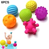 YMer0 Multi Sensory Ball Rubber Textured Multi Ball Set Baby Hand Catch Tactile Sensory Touch Toys for Baby Training…