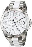 Tommy Hilfiger Damen Multi Zifferblatt Quarz Uhr mit Edelstahl Armband 1781768