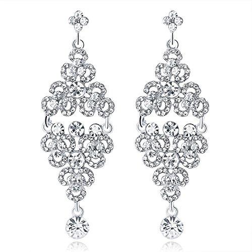Emorias 1 Pair Ohrringe Kristall Luxus-Zweig Hohe Ohrringe Diamanten Ohrringe Damen Modeschmuck Accessoires