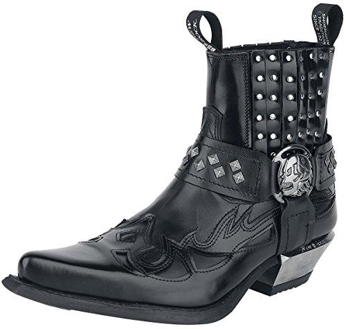 New Rock Antik Boots schwarz Schwarz