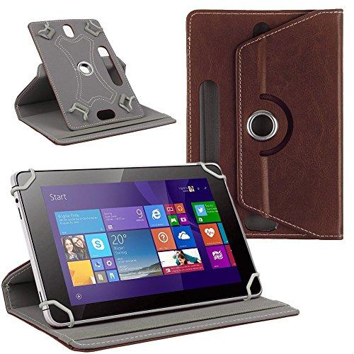 NAUC Tablet Tasche Hülle für CSL Panther Tab 10 Schutzhülle Cover Case 360° Universal, Farben:Braun