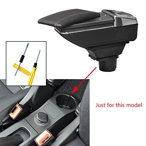Per Smart Auto Bracciolo Accessori Avere Portabicchieri Posacenere Rimovibile Nero
