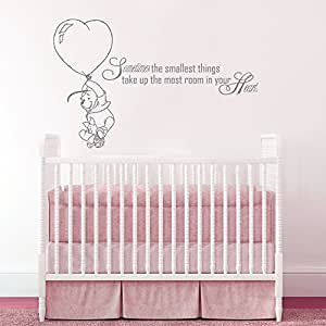 wandtattoo winnie pooh zitat spr che ballon wandaufkleber f r baby spruch vinyl aufkleber. Black Bedroom Furniture Sets. Home Design Ideas