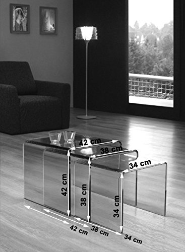 Milan bent glass nest of coffee tables available in clear or smoked milan bent glass nest of coffee tables watchthetrailerfo