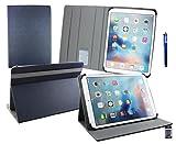 emartbuy® Jumper EZpad 5s 11.6 Pouce Tablette PC Universale (11-12.5 Pouce) Dark Bleu Premium PU Cuir Angle Multi Folio Exécutif Etui Coque Griglio Intérieur avec des Fentes de Cartes + Bleu Stylet