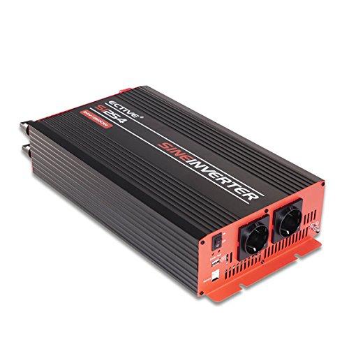 ECTIVE 2500W 12V auf 230V SI-Serie Reiner Sinus Wechselrichter in 7 Varianten: 300W - 3000W