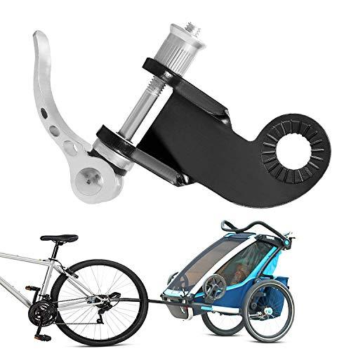 Fahrradanhänger Kupplung für Kinderanhänger Fahrrad Anhängerkupplung, Zusätzliche Fahrrad Kupplung für Kinderanhänger 2in1 Fahrrad Kupplung für Hundeanhänger (Silber)