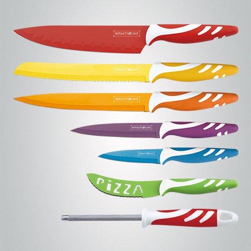 EUROSEDICO Cuchillos ceramicos de 8 piezas , son 6 cuchillos, 1 afilad