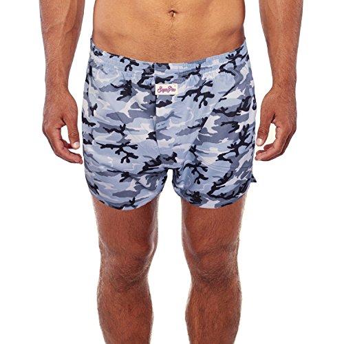 Boxershorts mit witzigen Motiv-Prints aus 100% Baumwolle Snow Camou