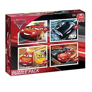 Jumbo Disney Cars 3: Puzzle Pack Puzzle - Rompecabezas (Puzzle Rompecabezas, Dibujos, Preescolar, Disney Pixar Cars, Niño, 4 año(s))