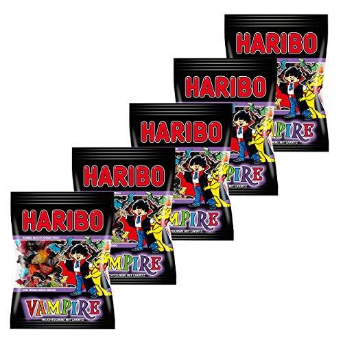 Haribo Vampire (Weingummi + Lakritz, 5 Beutel á 200g)