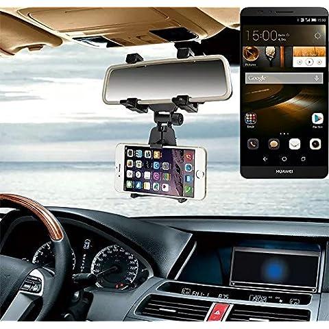 Sostenedor del montaje espejo retrovisor para Huawei Ascend Mate 7 32GB, negro | Escuadra de coches - K-S-Trade