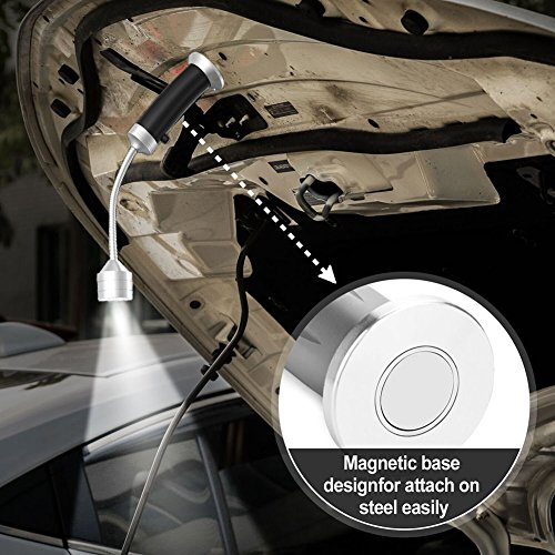 51aHmZvjTGL - SWNKDG Grill Licht Magnetische LED Grill Lampe 360°Verstellbare BBQ Lampe, Grill Zubehör Grillen Set im Freien(2 Stücke, schwarz)