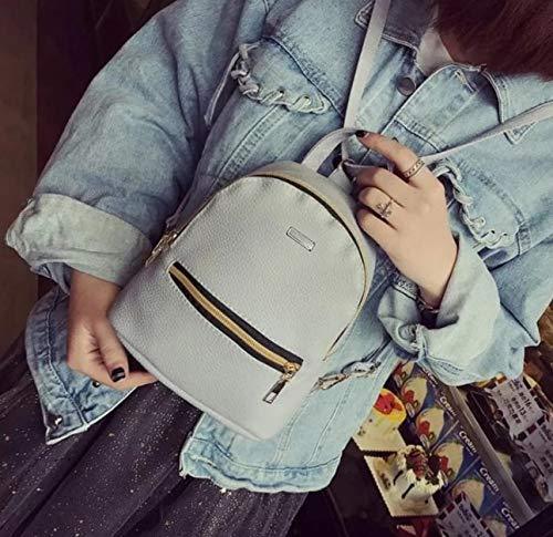 Best mini backpacks for girls in India 2020 JSPM® PU Leather Mini Backpack School Bag Student Backpack Women Travel bag Tuition Bag Backpack (Gray-SP-0341) Image 3