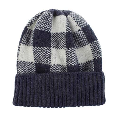 Poamen Haarbänder für Damen, 10 Stück, Vintage, elastisch, für Sport, warm, gestrickt, süßes Haaraccessoires Gr. 90, navy