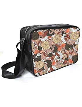 Snoogg farbenfrohe Schmetterlinge Leder Unisex Messenger Bag für College Schule täglichen Gebrauch Tasche Material PU