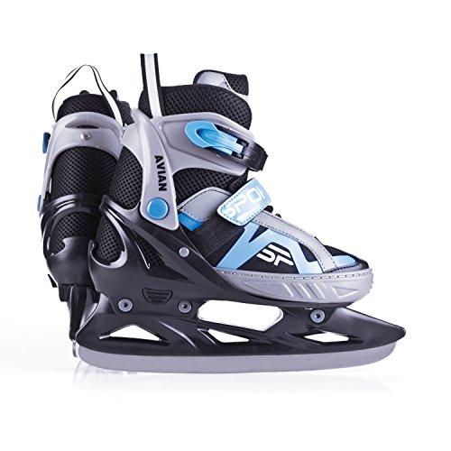 Spokey Unisex aviar ABEC7carbono en línea Hockey ice-skates 33–36, color negro/azul, talla única