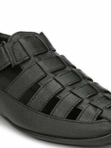 Afrojack Men's Billion 100% Original Milled Leather Sandals