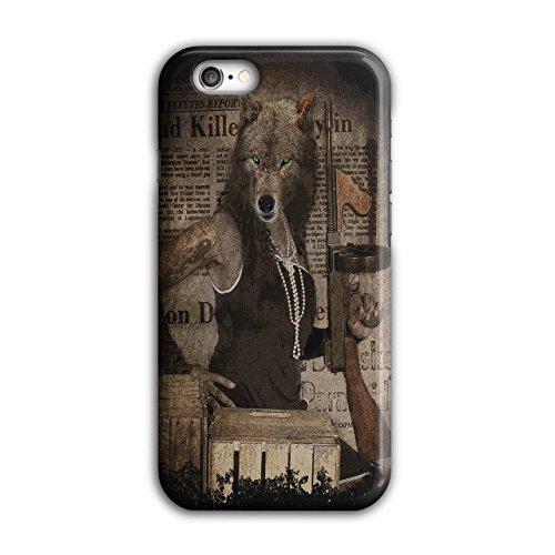 Wolf Heftig Gewehr Gangster Verbrecher iPhone 6 / 6S Hülle   Wellcoda (Wenig Wolf Kostüme)