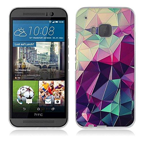 HTC One M9 Hülle, HTC M9 Hülle, Gift_Source [ Bunter Würfel ] Hülle Case Transparent Weiche Silikon Schutzhülle Handyhülle Schutzhülle Durchsichtig TPU Crystal Clear Case Backcover Bumper Case für HTC One M9 (Htc-source-fällen)